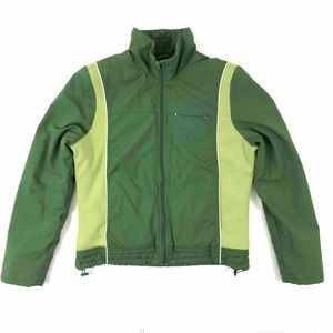Old Navy Boys Jacket Green Lined Color Block Large